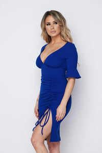 """Grace"" Timeless Sexy Simple Classy Dress - Royal Blue"