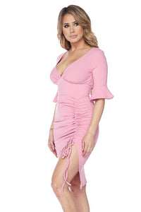 """Grace"" Timeless Sexy Simple Classy Dress - Mauve Pink"