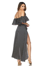 "Load image into Gallery viewer, ""Page"" Polka Dot Crop Top & Maxi Skirt Set"