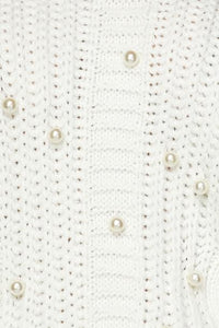 """Pretty in Pearl"" Sweater Mini Dress - White"