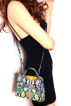 "Load image into Gallery viewer, ""Python"" Snake Multicolor Birkin Style Mini Bag"