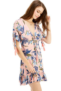 """Alicia"" Floral Ruffle Light-Weight Summer Dress"