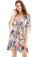 "Load image into Gallery viewer, ""Alicia"" Floral Ruffle Light-Weight Summer Dress"