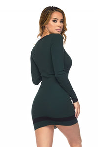 """Charisma"" Ribbed Knit Mini Bodycon Dress"