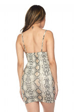 "Load image into Gallery viewer, ""Medusa"" Snake Skin Jersey Mini Dress"