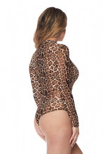 "Load image into Gallery viewer, ""Carla"" Mesh Leopard Bodysuit"