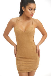 """Shelly"" Faux Suede Mini Dress"