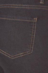 """Susie"" Crop Denim Pants - Dark Wash"