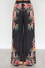 "Load image into Gallery viewer, 'Dawson"" High Waist Striped Floral Wide Leg Pants"