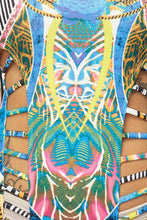 "Load image into Gallery viewer, ""Arizona"" Tribal Print Cut-Out Scuba Bodysuit"