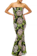 "Load image into Gallery viewer, ""Flora"" Floral Embroidered Mermaid Maxi Dress"