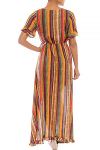 """Autumn"" High Low Maxi Dress with Ruffles"