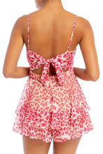 "Load image into Gallery viewer, ""Amari"" Leopard Flowy Romper - Pink"