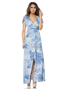 """Mindy"" Patchwork Maxi Dress"