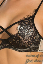 "Load image into Gallery viewer, ""Reese"" Lace Criss Cross Bralette"