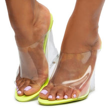 "Load image into Gallery viewer, ""Yeezus"" Clear Wedges - Lime"