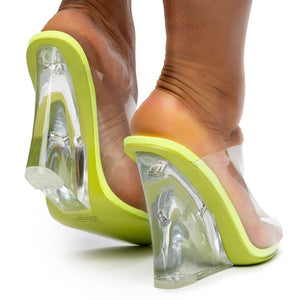 """Yeezus"" Clear Wedges - Lime"