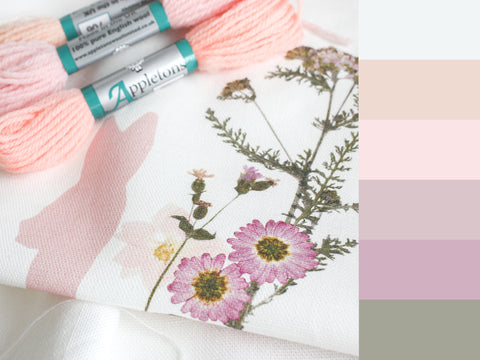 Linen Fabric colour board