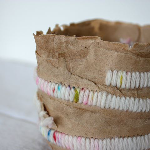 embroidered paper mache detail