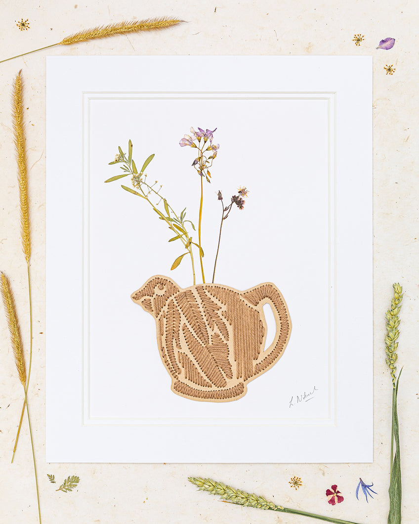 Cottage Style Teapot Full of Wildflowers