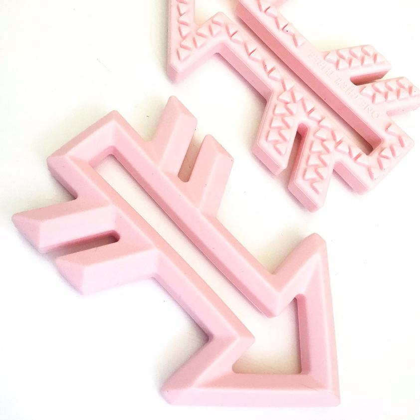 ARROW Silicone Teether || PALE PINK