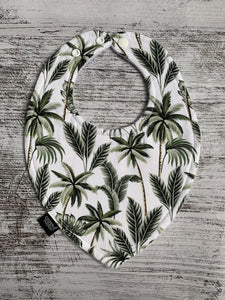 Tropical Palm Dribble Bib