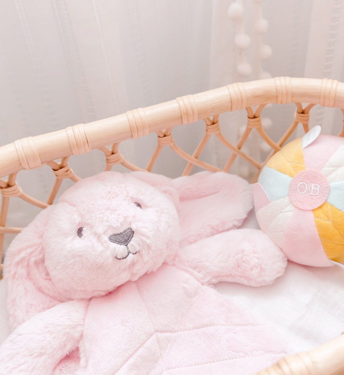 Betsy Bunny baby comforter