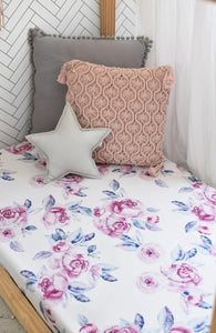 Lilac Skies I Fitted Cot Sheet