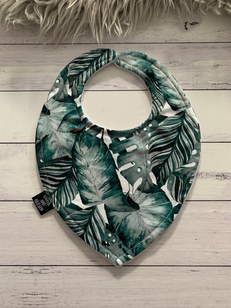 Monstera Dribble Bib