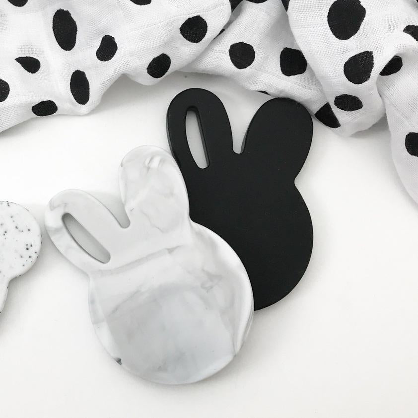 BUNNY Silicone Teether || BLACK