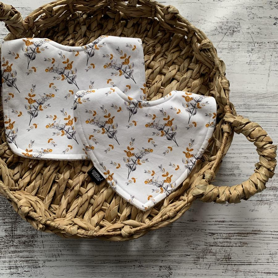 Golden Eucalyptus Dribble Bib