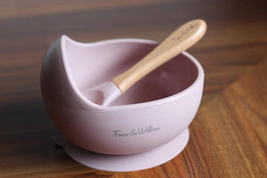 Silicon Bowl and Spoon set || DUSTY BLUSH