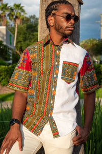 Afribera RED/GREEN SHIRT