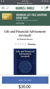 Dashawn Burton - Life and Financial Advisement course book