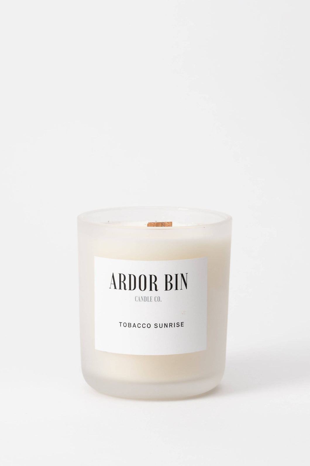 Ardor Bin Candle Co. Tobacco Sunrise 12 oz. Wood Wick Scented Candle