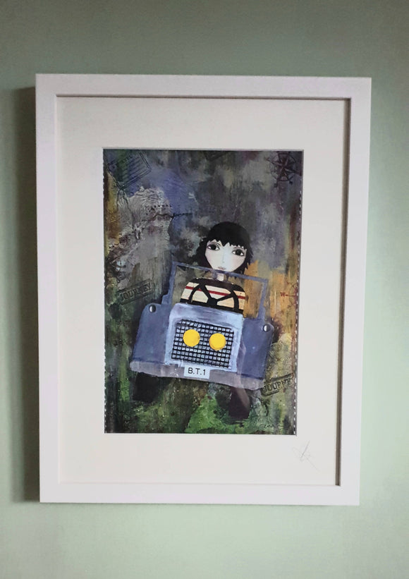 The Travelling Boy Framed Print - The Biscuit Marketplace