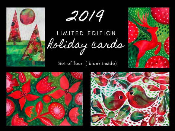 Christmas 2019 Card Limited Edition pack of 4 - The Biscuit Marketplace