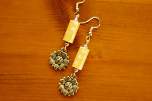 Drops Collection - Paper Bead Earrings (Antique Silver) - The Biscuit Marketplace