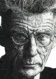 Illustration Print - Samuel Beckett, Irish Playwright Author & Poet - The Biscuit Marketplace