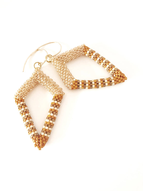 Tan Dangle Earrings