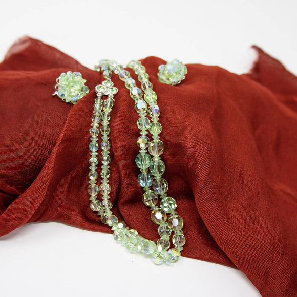 Green Aurora Costume Jewellery Set - The Biscuit Marketplace