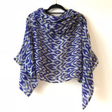 LA BOHÈME TOP: blue, lime, abstract print - The Biscuit Marketplace
