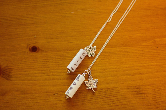 Words Collection - Paper Bead Pendants - The Biscuit Marketplace