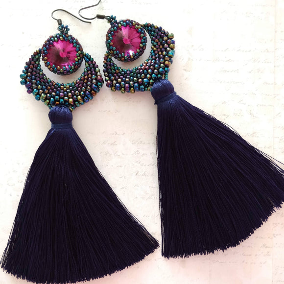 Hand sewn earrings