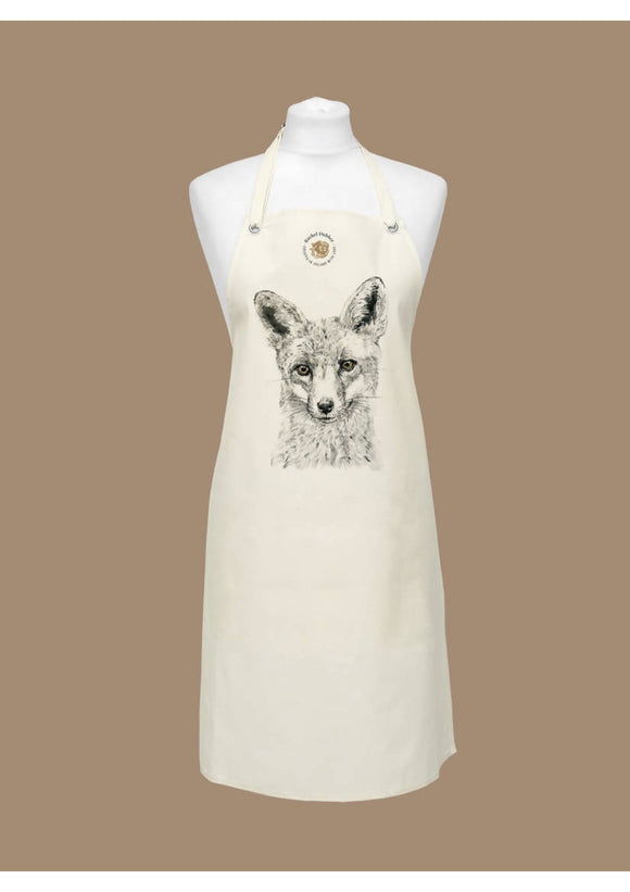 Foxy Natural Cotton Apron - The Biscuit Marketplace