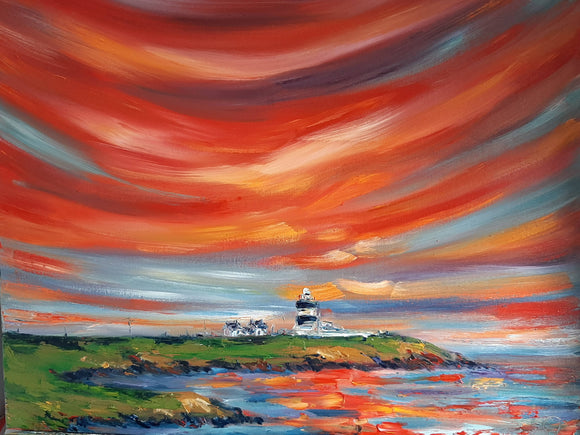 Blazing Skies - Sunset over Hook Head Lighthouse - The Biscuit Marketplace