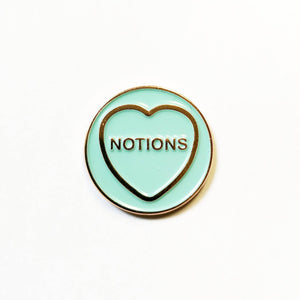 Notions - Hate Hearts Enamel Pin - The Biscuit Marketplace