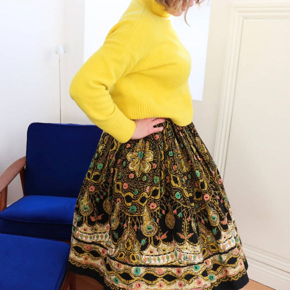 Vintage 1950's Mexican Circle Skirt