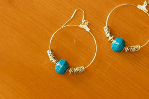 Hoops Collection - Paper Bead Earrings - The Biscuit Marketplace