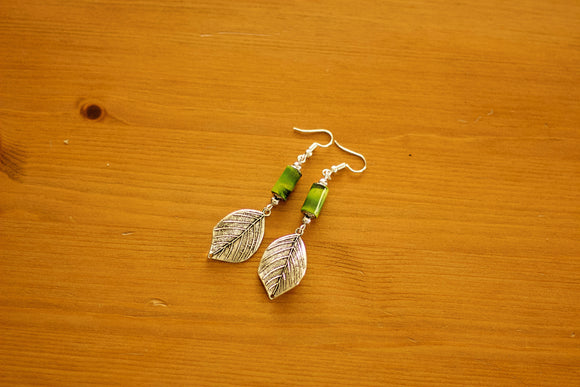 Drops Collection - Paper Bead Earrings (Antique Silver)